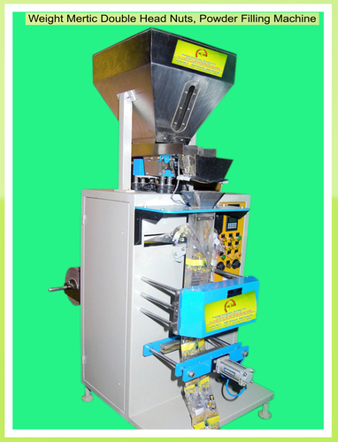 Double head weghing pouch packing machine