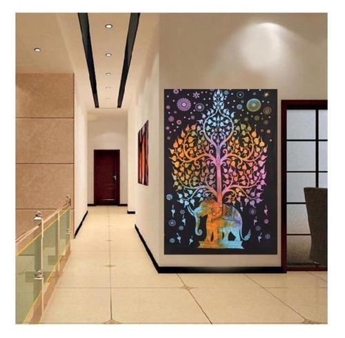 Decorative Tree with Elephant Tapestry