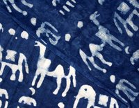 Indigo Blue Animal Block Print Fabric