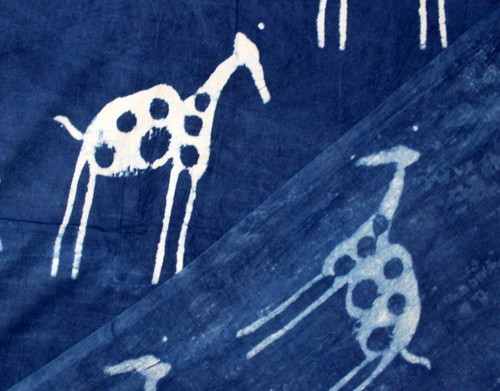 Animal Block Print Fabric