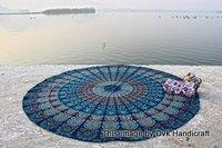 Bohemian Mandala Round Beach Tapestry