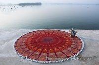 Printed Round Mandala Tapestry
