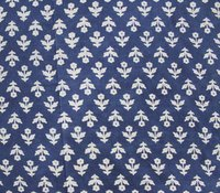 Indigo Blue Block Print Fabric