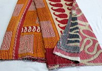 Traditional Print Kantha Quilt