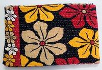 Floral Print Kantha Quilt