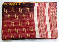 Hand Block Printed Kantha Quilts