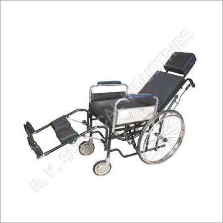 Reclin Wheel Chair erwith Commode