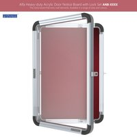 Enclosed Acrylic Display & Notice Board with Lock