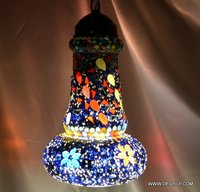 Mosaic Glass Lamp Hanging Lamp Ceiling Light Lamp Stained Glass Hanging Fixture Lighting