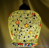 HANGING,MOSAIC GLASS HANGING,DECORATIVE RESIDENTIAL HANGING,HALF HANGIN