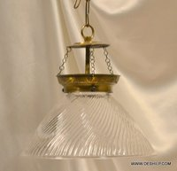 CLEAR CUT GLASS HANGING, FORSTED GLASS HANGING