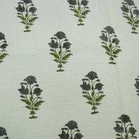 Hand Stitched Cotton Kantha Quilt