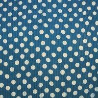 Indigo Blue Polka Dot Print Kantha Quilt
