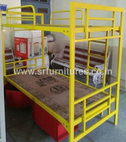 Yellow And Wood Bunker Cot