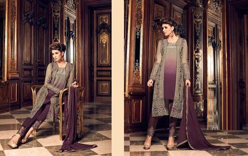 Georgette Koti Style Designer Suit Supplier Georgette Koti Style