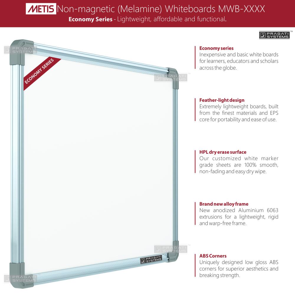 Metis Economy Non-magnetic (Melamine) Whiteboards