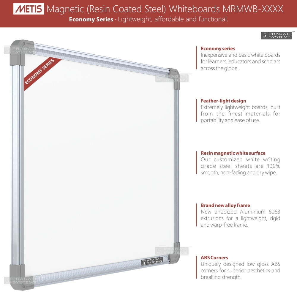 Metis Magnetic (Resin Coated Steel) Whiteboards