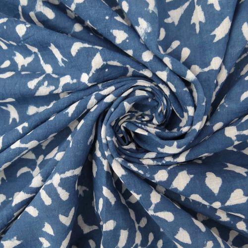 Indigo Blue Cotton Fabric