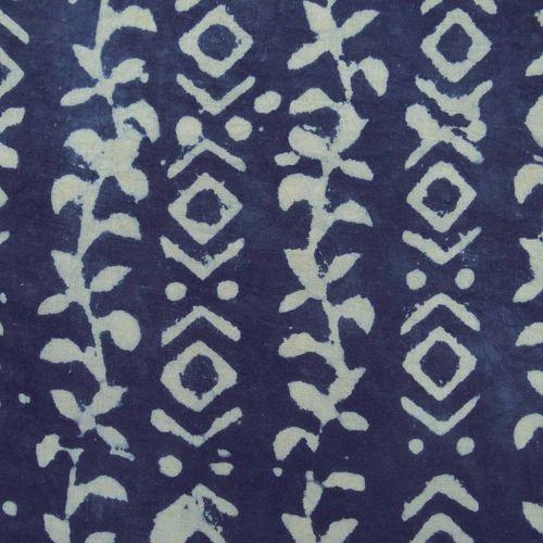 Indigo Blue Traditional Print Fabric