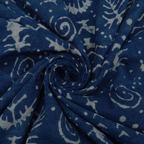 Indigo Blue Cambric Fabric
