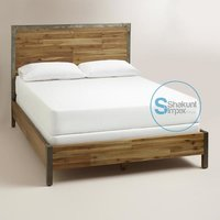 Rustic Reclaimed Headboard Industrial Bed