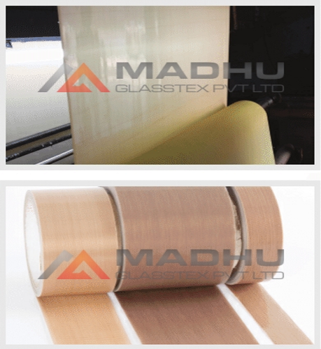 PTFE Coated Glass Fabric one side Adhesive Tapes