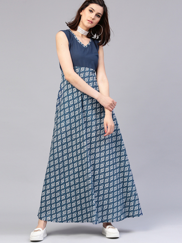 Ladies Trendy Printed Gown