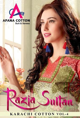 Rajiya Sultan Printed Cotton Dress Material
