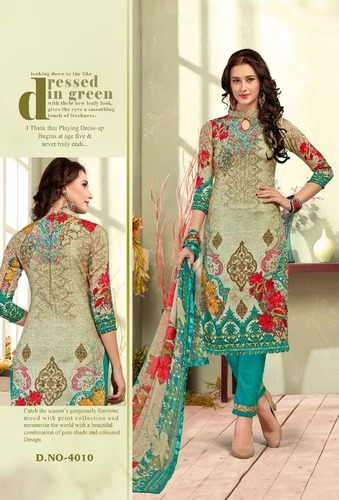 Rajiya Sultan Type Cotton Dress Material