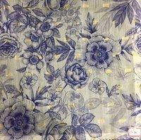 Chaina Cotton Jari Butti Digital Fabrics