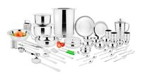 SILVER KITCHEN SET 105 PCS