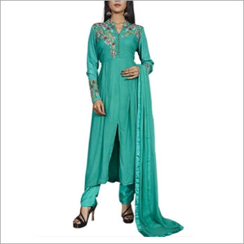 Designer Rama Green Salwar Suit