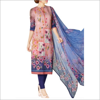 Light Pink Colored Cotton Lawn Salwar Suit