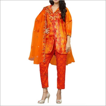 Designer Orange Top And Pant