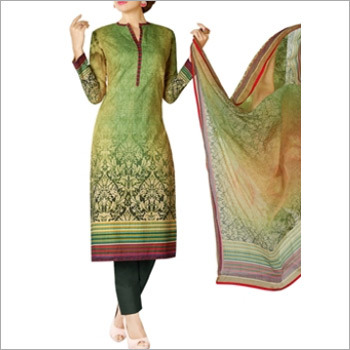 Light Green Colored Cotton Lawn Salwar Suit