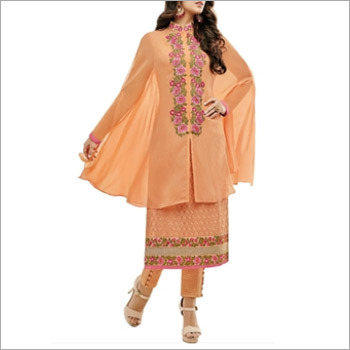 Orange Georgette Dress Material