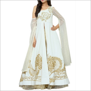 Designer Golden and White Indo Western outfit