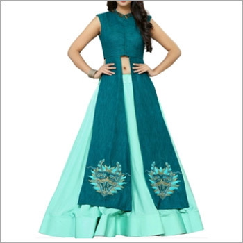 Designer Sea Green Indo Western Outfit