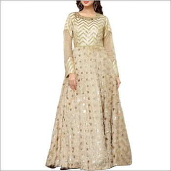 Designer Cream Floor Length Gown