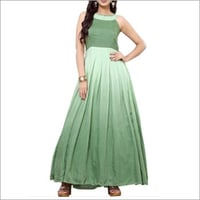 Designer Casual Green gown