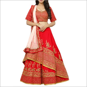 Designer Red Wedding Special Lehenga Choli