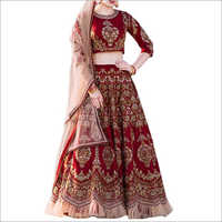 Maroon Color Heavy Embroidery Lehenga Choli
