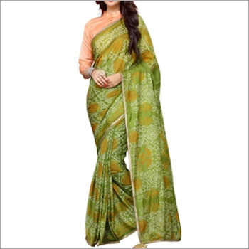 Designer Bandhani Saree With Blouse