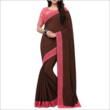Designer Brown Saree
