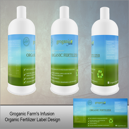Organic And  Fertilizer Label Design