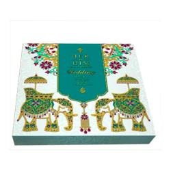 Printed Wooden Wedding Card Box