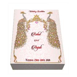 Wooden Wedding Invitation Card Box