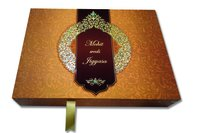 Designer Wooden Wedding Invitation Card Box