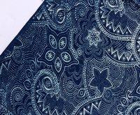 Handmade Indigo Blue Floral Soft Voile Fabrics