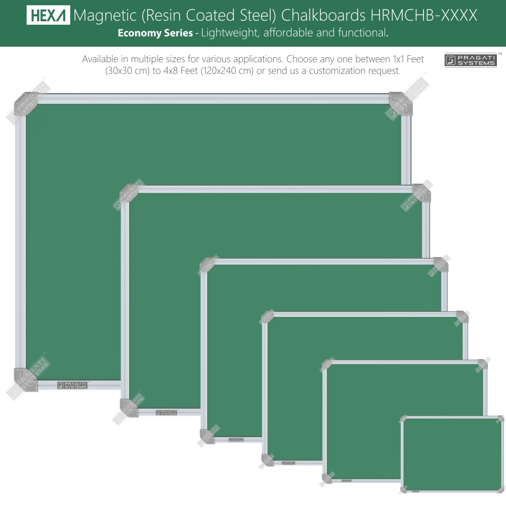 Hexa Magnetic (Resin Coated Steel) Chalkboards
